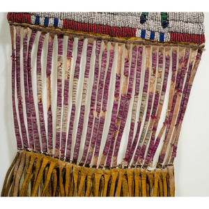 Cheyenne River Sioux Pictorial Beaded Hide Tobacco Bag, From the James B. Scoville Collection