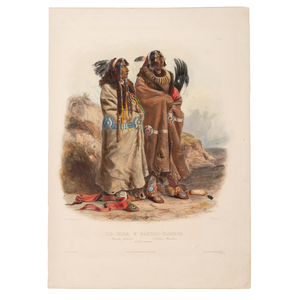 Karl Bodmer (Swiss, 1809-1893) Aquatint Etching, From the James B. Scoville Collection