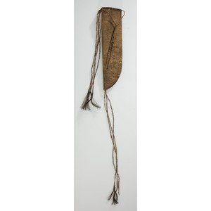 Sioux Beaded Buffalo Hide Knife Case, From the James B. Scoville Collection