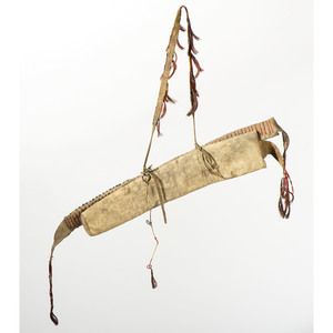 Sioux Quilled and Beaded Buffalo Hide Bowcase and Quiver, From the James B. Scoville Collection