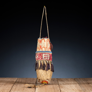 Sioux Beaded and Quilled Hide Bladder Bag, From the James B. Scoville Collection