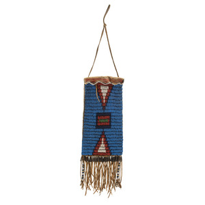 Sioux Beaded Hide Mirror Bag, From the James B. Scoville Collection