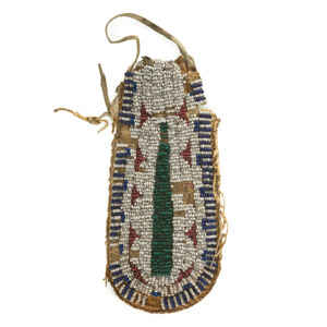 Sioux Beaded Hide Pouch, From the James B. Scoville Collection