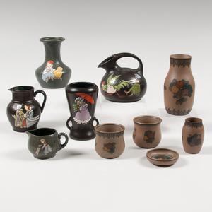 Teplitz and L. Hjorth Pottery Sets