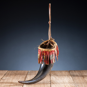Sioux Quilled Buffalo Horn Cup, From the James B. Scoville Collection
