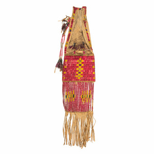 Sioux Quilled Hide Tobacco Bag, From the James B. Scoville Collection
