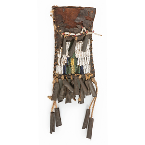 Cheyenne Beaded Hide Strike-a-Light Bag, From the James B. Scoville Collection