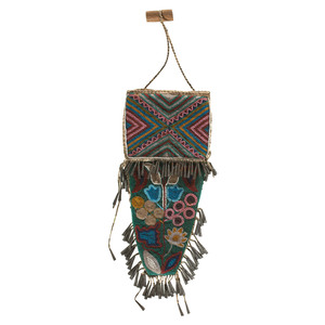 Cree Beaded Hide Knife Sheath, From the James B. Scoville Collection