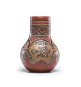 Margaret and Luther Gutierrez (Santa Clara, 1936-2018 / 1911-1987) Polychrome Pottery Vase
