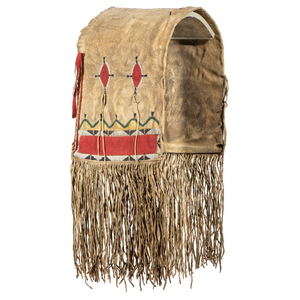 Southern Cheyenne Beaded Buffalo Hide Saddle Bags, From the James B. Scoville Collection