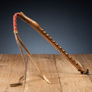 Southern Plains Carved Wood Quirt, From the James B. Scoville Collection
