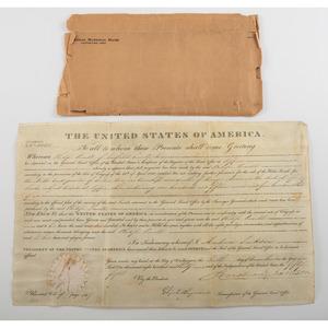 [Americana- Presidents - Autographs] President Andrew Jackson Signed Land Grant on Vellum, 1830