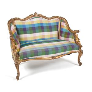 Louis XV Style Gilt Settee