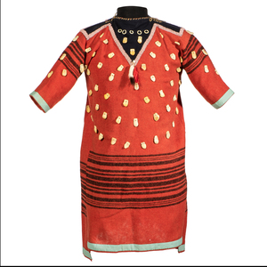 Crow Girl's Dress with Imitation Elk Teeth, From the James B. Scoville Collection