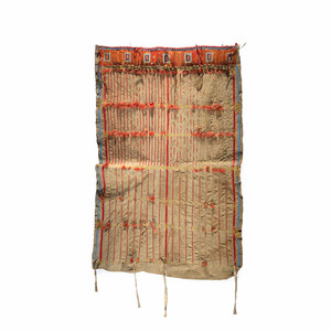 Sioux Beaded and Quilled Hide Panel, From the James B. Scoville Collection