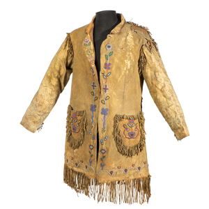 Plains Cree Beaded Hide Jacket, From the James B. Scoville Collection