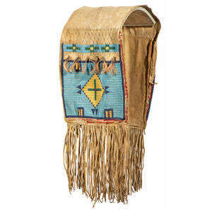 Sioux Beaded Buffalo Hide Saddle Bags, From the James B. Scoville Collection