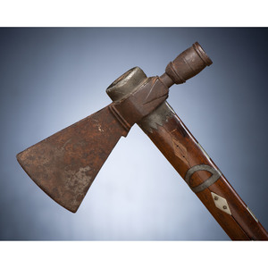 Great Lakes Pipe Tomahawk with Pewter and German Silver Inlay