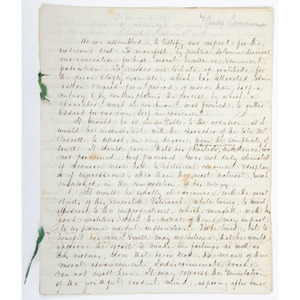 [Americana - Manuscript - Maryland] Handwritten Eulogy of Signer Charles Carroll by James Lanman 1833