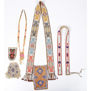 Collection of Plains Beadwork, Deaccessioned From the Hopewell Museum, Hopewell, NJ