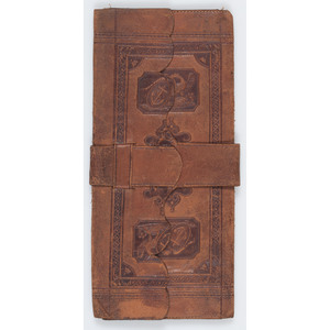 Ca 1860 Patriotic Leather Wallet