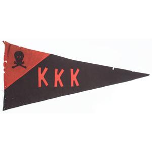 Vintage Ku Klux Klan Pennant and Plates