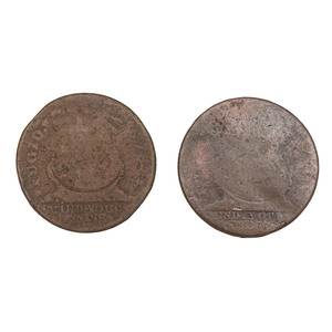 Fugio Cents, Lot of Two