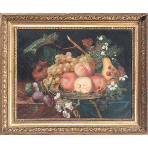 Still Life with Fruit, Oil on Canvas