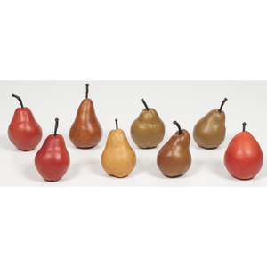 Painted Stone Pears