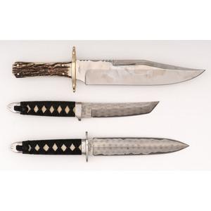 Lot of Three Fixed Blade Knives