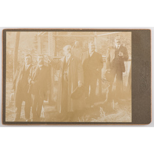 Cabinet Card of Buffalo Bill at the Grave of Wild Bill Hickok