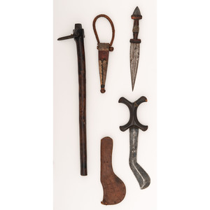 Lot of Three African Weapons