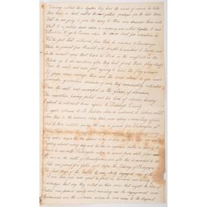 Revolutionary War Manuscript Memorial of William Smith