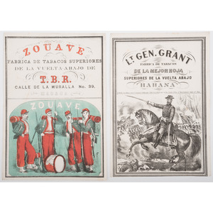 Pair of Civil War-Era Illustrated Cigar Labels