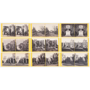 Assorted Stereoviews Featuring Landmarks and Landscapes Around London, Warwickshire, Southampton, and More,  Lot of 55