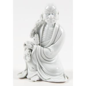 Chinese Blanc de Chine Lohan Figure 德化白瓷羅漢坐像