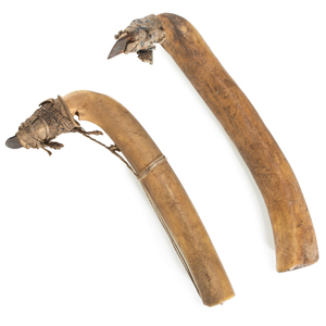 Plains Elk Antler Hide Scrapers, From the James B. Scoville Collection