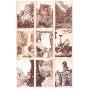 Lot of 14 Cabinet Photographs of Manitou, CO by H.W. Stormer