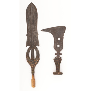 Lot of Two Congolese Edged Weapons