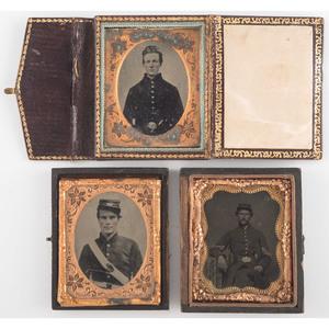 Civil War Ninth Plate Tintype and Ambrotypes of Soldiers