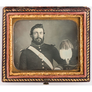 Mexican War-Era Ninth Plate Daguerreotype of an Officer