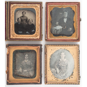 Sixth Plate Daguerreotype of Young Woman Housed in Rare John Plumbe Case, Plus
