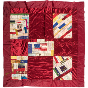 Quilt and Pillow Sham with Ribbons, Including GAR Reunions