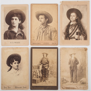 Wild West Performers, Six Cabinet Cards, Two by Eisenmann