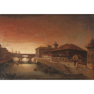 Oil on Canvas, View of Florence, Italy