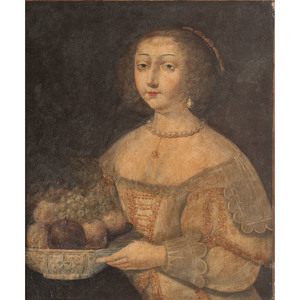 Portrait of a Woman with a Bowl of Fruit