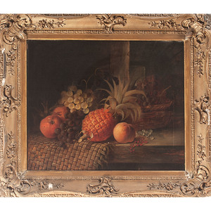 Still Life with Pineapple, Monogrammed