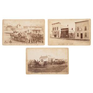 Traverse County Seat War, Minnesota, Trio of Rare Photographs