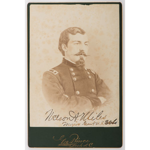 Nelson Miles Signed Cabinet Card