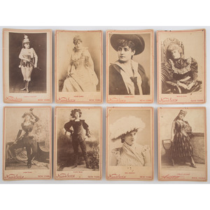 Collection of Newsboy Cabinet Cards of 19th Century Entertainers and Actresses